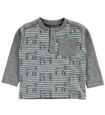 Fixoni Blouse - Pearl Grey w. Donkeys - Pearl Grey w. Donkeys
