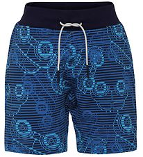 Lego Duplo Sweat Shorts - Pan - Navy/Blue Striped w. Cars
