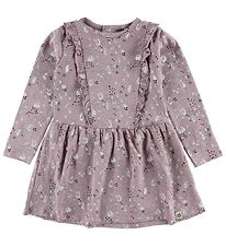 Papfar Dress - Lavender w. Dots