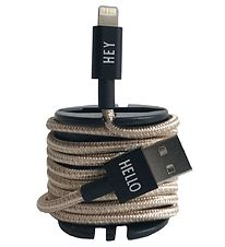 Design Letters Charging Cable - iPhone - 1 m - Gold