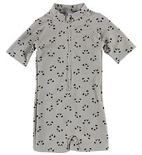 Liewood Coverall Swimsuit - Max - UV50+ - Grey w. Pandas