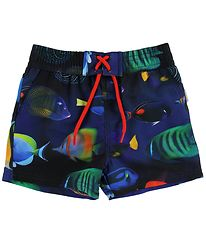 Paul Smith Junior Swim Trunks - Toshiro - Navy w. Fish
