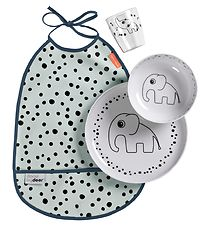 Done By Deer Dinner Set - Happy Dots - Blue