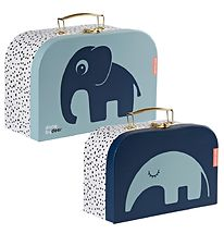 Done By Deer Cardboard Suitcase - 2-Pack - 25x16/28x18 - Blue