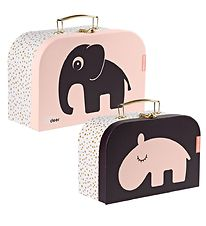 Done By Deer Cardboard Suitcase - 2-Pack - 25x16/28x18 - Powder