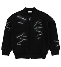 Dolce & Gabbana Zip Cardigan - Black w. Patches