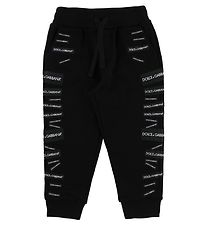 Dolce & Gabbana Sweatpants - Black w. Patches