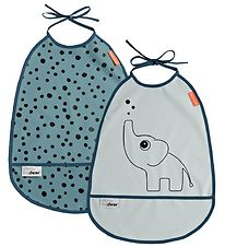 Done by Deer Bib - 2-Pack - Elphee - Blue