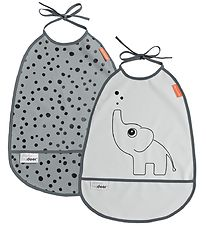 Done by Deer Bib - 2-Pack - Elphee - Grey