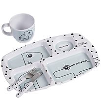 Done By Deer Dinner Set - Happy Dots Toddler - Blue
