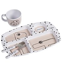 Done By Deer Dinner Set - Happy Dots Toddler - Powder