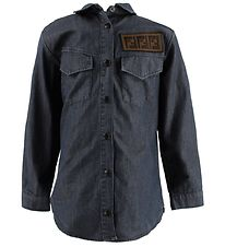 Fendi Kids Shirt - Dark Blue w. Patch