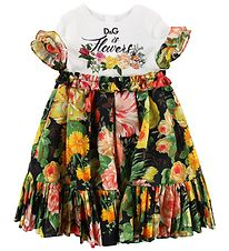 Dolce & Gabbana Dress - Black/White w. Flowers