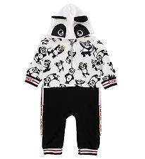Dolce & Gabbana Hooded Jumpsuit - Sweat - White/Black w. Panda