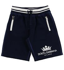 Dolce & Gabbana Shorts - Sweat - Navy w. Logo