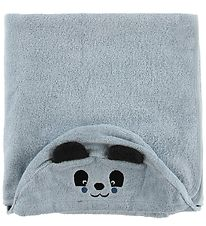 Pippi Hooded Towel - 70x120 - Light Blue w. Panda