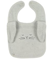 Pippi Bib - Terry - Grey w. Rabbit