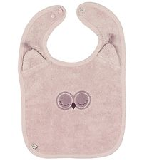 Pippi Bib - Terry - Dusty Powder w. Owl