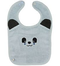 Pippi Bib - Terry - Light Blue w. Panda