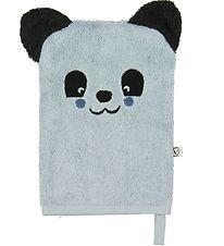 Pippi Washglove - Light Blue w. Panda