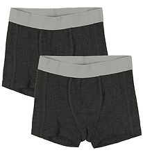 Minymo Boxers - 2-Pack - Bamboo - Charcoal Melange