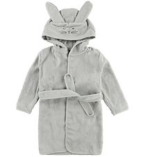 Pippi Bathrobe - Grey w. Rabbit