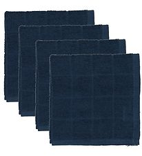 Pippi Washcloths - 4-Pack - Navy