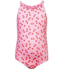 Petit Crabe Swimsuit - Esther - UV50+ - Pink w. Cherries