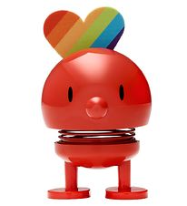 Hoptimist Baby Bumble - Rainbow - 7 cm - Red