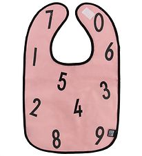 Design Letters Bib - Rose w. Numbers