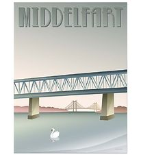 Vissevasse Poster - 30x40 - Middelfart - Old Bridge
