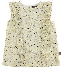 Creamie Top - Yellow w. Flowers
