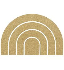 Thats Mine Wall Decoration - Rainbow - 17x27 - Gold Glitter