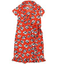 Hound Dress - Red w. Flowers