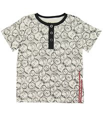 Small Rags T-shirt - Ivory w. Stamps