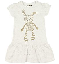 Small Rags Dress - Ivory Melange w. Mr. Rags