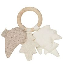 Cam Cam Rattle - Leaves - Ivory