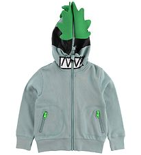 Stella McCartney Kids Zip Thru Hoodie - Dusty Blue w. Mask