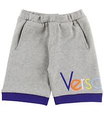 Young Versace Shorts - Sweat - Grey Melange w. Text