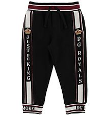 Dolce & Gabbana Sweatpants - Black w. Logo
