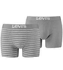 Levis Boxers - 2-Pack - Boxers Breif - Grey Melange/White Stripe