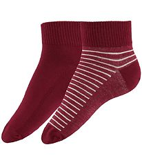 Levis Ankle Socks - 2-Pack - Mid Cut - Red/Red Striped