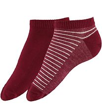 Levis Ankle Socks - 2-Pack - Low Cut - Red/Red Striped