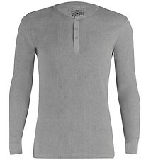 Levis Blouse - Long Sleeve Henley - Grey Melange