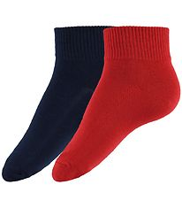 Levis Ankle Socks - 2-Pack - Mid Cut - Red/Navy