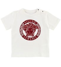 Young Versace T-shirt - White w. Red Logo