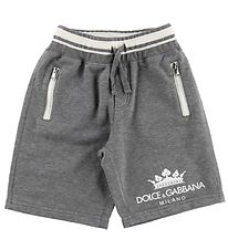 Dolce & Gabbana Shorts - Sweat - Grey Melange