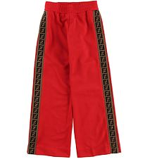 Fendi Kids Trousers - Red w. Side Stripes