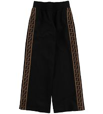 Fendi Kids Trousers - Black w. Side Stripes