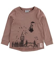 Wheat Disney T-shirt - Mary Poppins Flying - Dusty Rouge